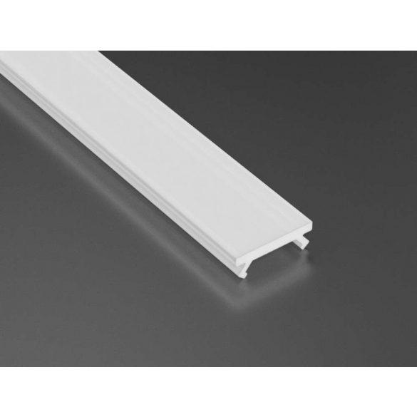 Tejfehér PVC takaróprofil Keskeny 2 méteres profilokhoz
