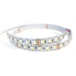 Led szalag 5050 SMD Beltéri RGB + Meleg fehér 24V 60LED/m Prémium minőség 3 év jótállás