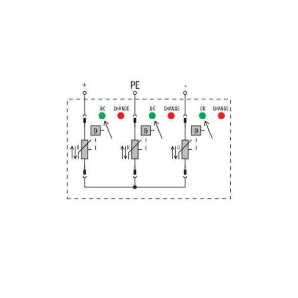 Weidmüller Túlfeszültség levezető - VPU PV I+II 3 1000 E