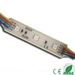 Led Modul 1db 3x5050 led 0,72W sorolható vízálló RGB
