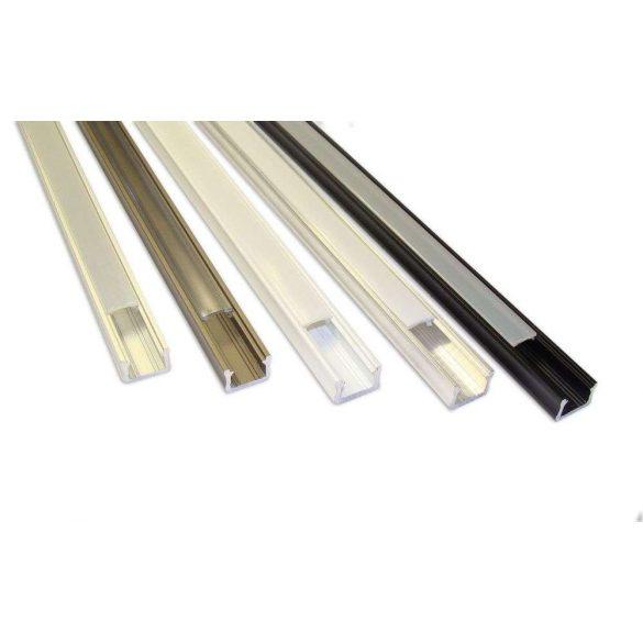 Led profil led szalagokhoz Keskeny ezüst 1 méteres alumínium
