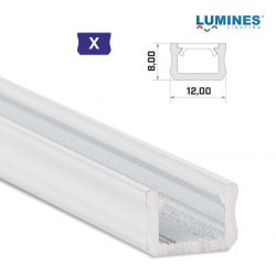 Led profil led szalagokhoz Keskeny fehér 1 méteres alumínium