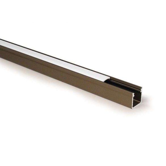 Led profil, led szalagokhoz, Magas falú  bronz, 1 méteres, alumínium