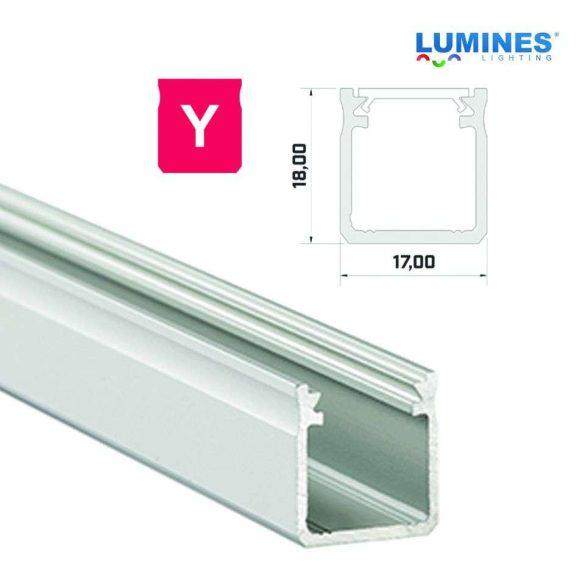 Led profil led szalagokhoz Magas falú  ezüst 2 méteres alumínium