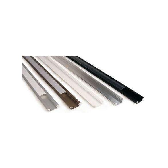 Led profil led szalagokhoz, beépíthető, fehér, 1 méteres, alumínium
