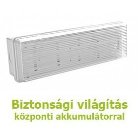 Biztonsági világítás központi akkumulátorral