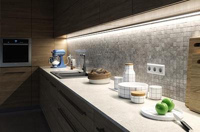 Led profil konyhapult világítás
