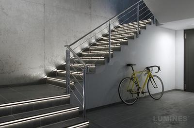 Led profil lépcső világítás