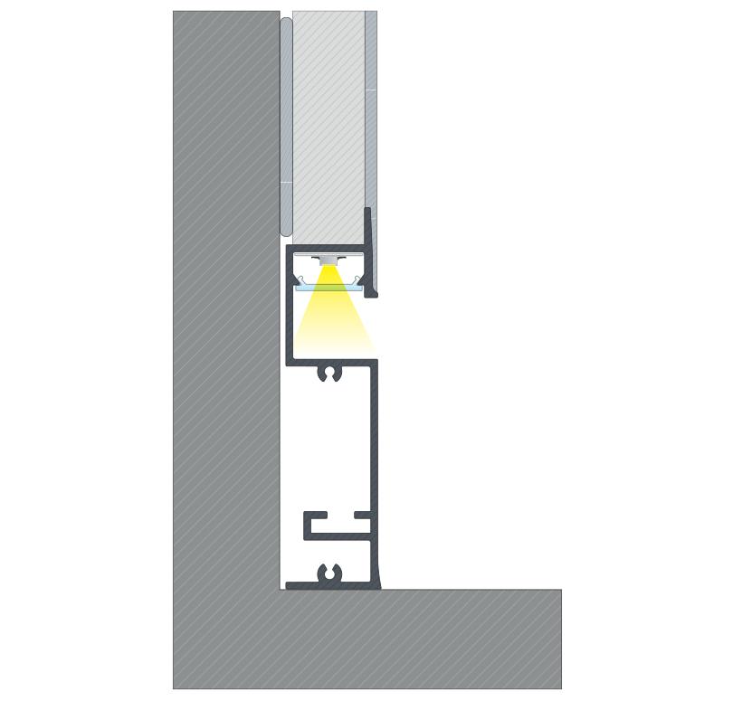 A FLARO profil összeszerelése és elvakolása