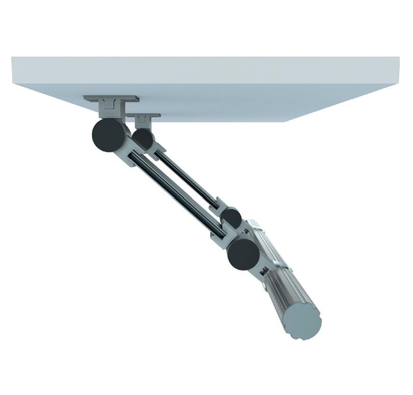A MICO profil 2 csuklóval rögzítése
