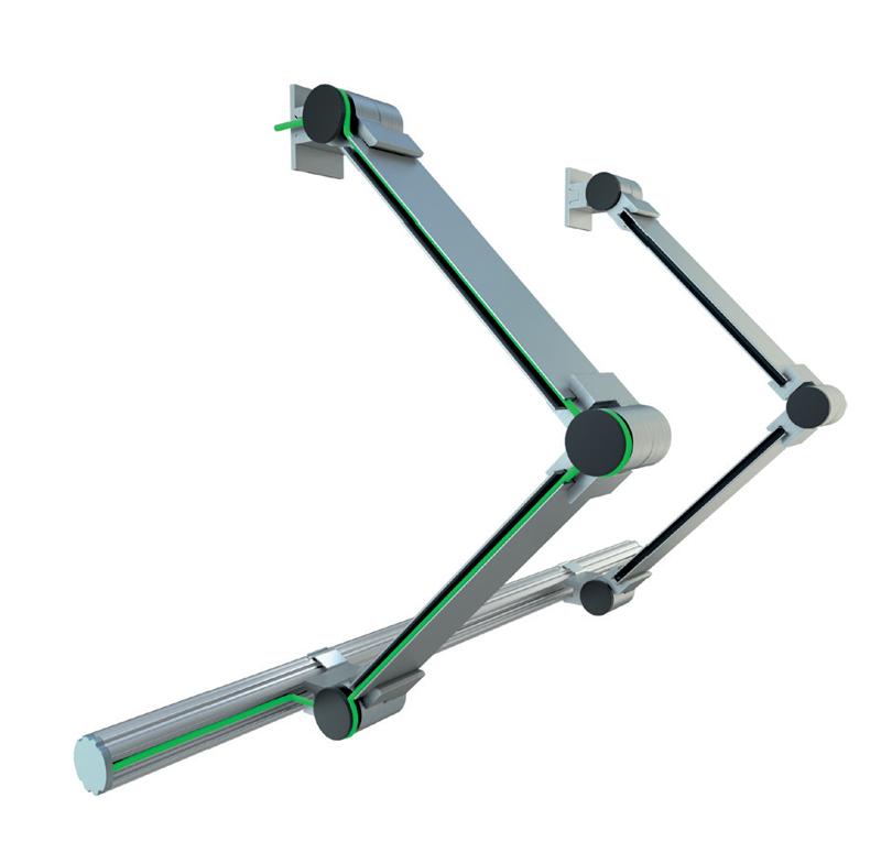 A MICO profil 3 csuklóval rögzítése