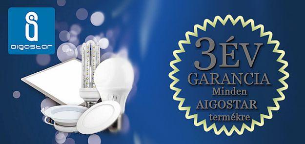 3 év garancia az Aigostar termékekre